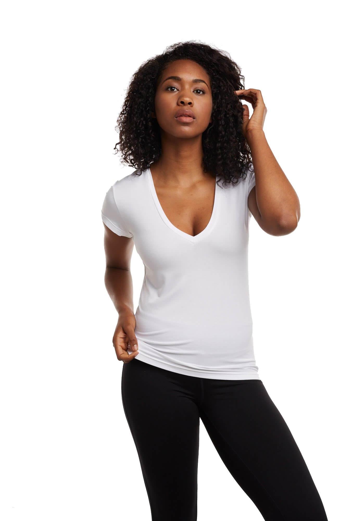 Best Women's V-Neck Undershirt White