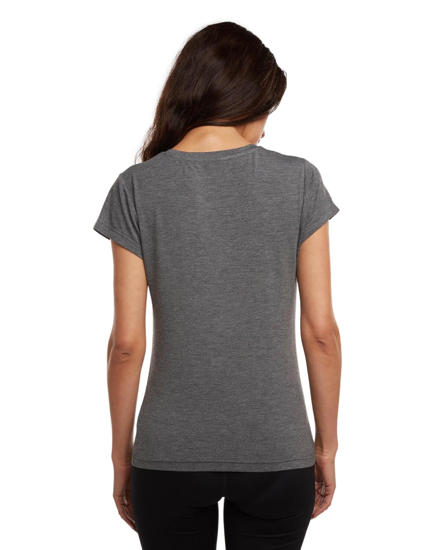 back of women's undershirt grey v neck